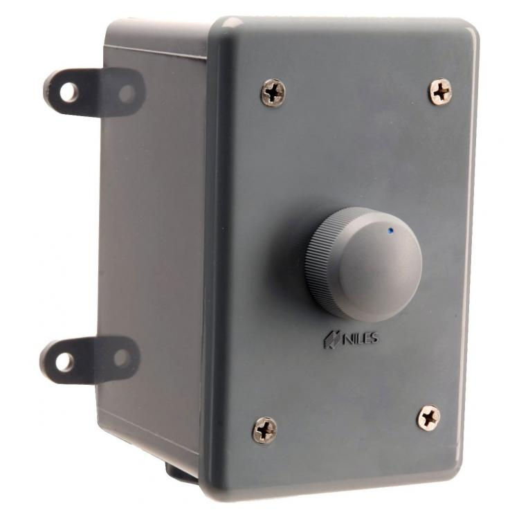 Weatherproof Stereo Volume Control w/Select. Impedance; Enclosure and Face - Gray